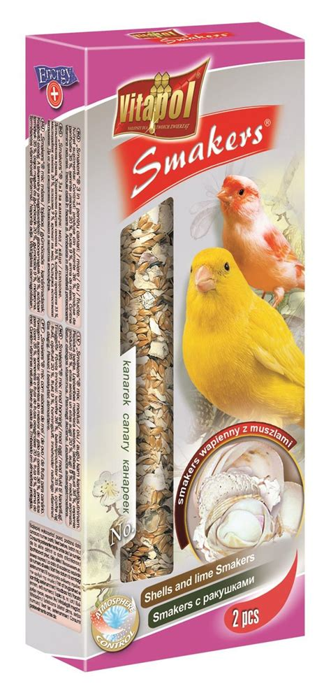 Bestill Vitapol Smakers with Shells and Lime for Canary 60