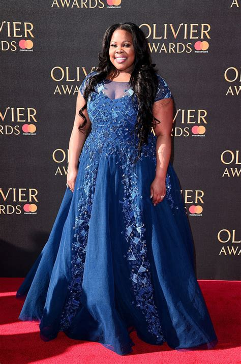 Amber Riley Picks Up Her Olivier Award for Best Actress in