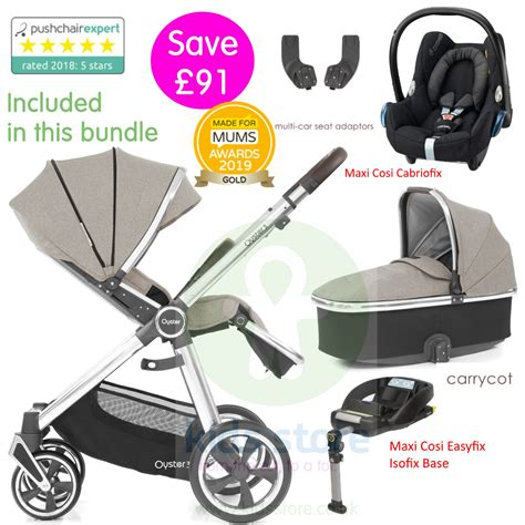 BabyStyle Oyster 3 Essential Bundle Package - Pebble