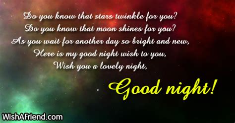 Do you know that stars twinkle, Cute Good Night Message