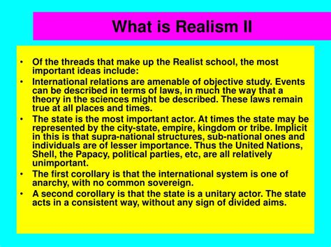 PPT - International Theory: The Second Debate Realism