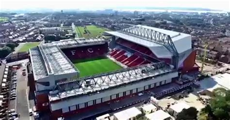 Anfield redevelopment: Stunning aerial footage shows
