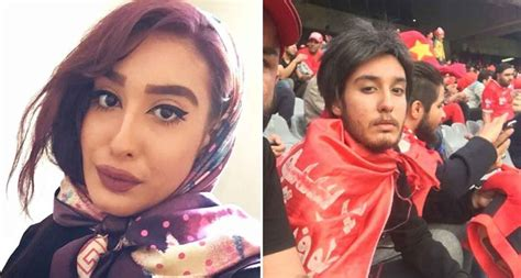 Iranian women disguise themselves in beards and wigs to