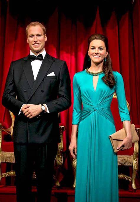 Prince William & Kate Middleton's Wax Figures Get a
