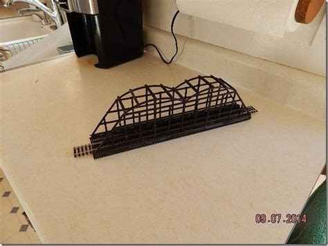 HO Train Bridge with Upper Supports 15 inch 3D model 3D