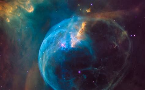 Wallpaper Bubble Nebula, NGC 7635, Colorful, Spectacular