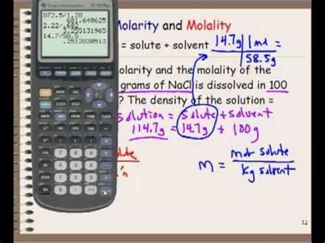 Molarity and Molality Calculations - YouTube