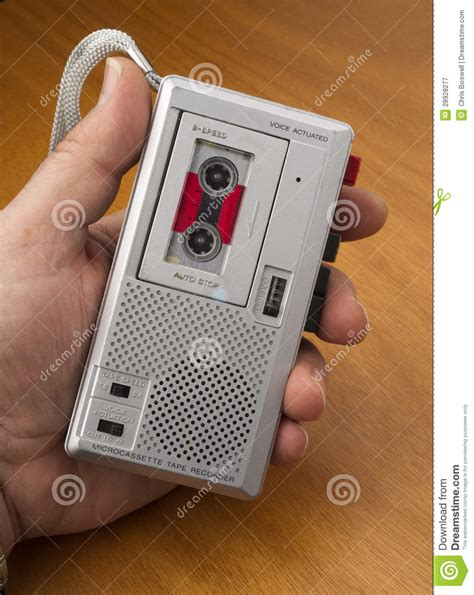 Audio Recorder Using Tape The Old Fashioned Way Royalty