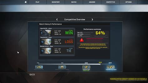I want this CSGO Elo Rank System Design Concept by H!D