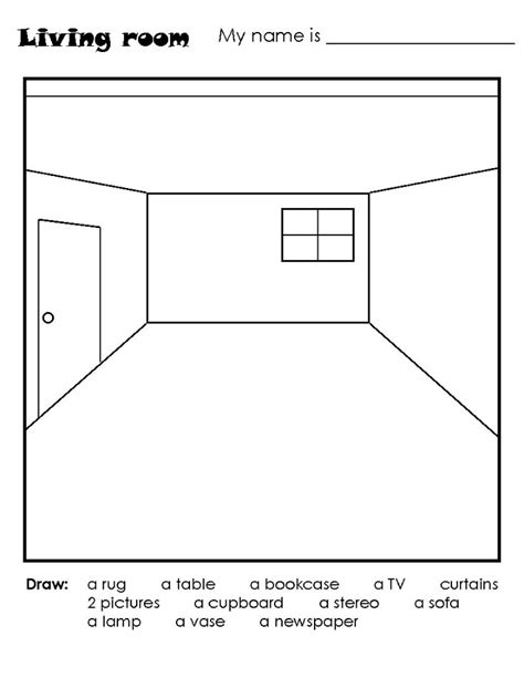 how to draw worksheet   Definition of Drawing room and the