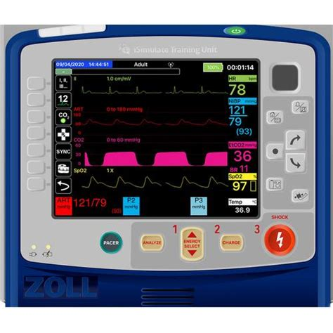 Simulated Patient Monitor/ Defibrillator Zoll® X Series