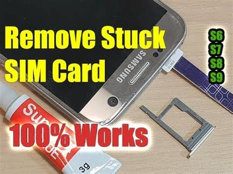 Remove Stuck SIM Card in 2 Minutes for Samsung Galaxy S7